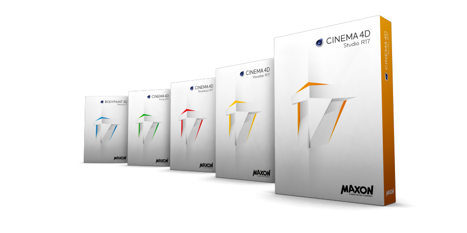 Cinema 4D R17 packshots